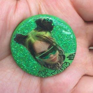 Billie Eilish Heart Pin 💚✨